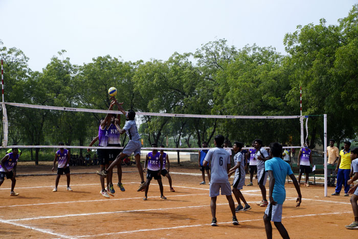 Volley Ball - State Level Intercollegiate Sports Meet Sponsored by The Tamil Nadu Dr. MGR Medical University, Chennai, on 08 - 10 Dec 2017