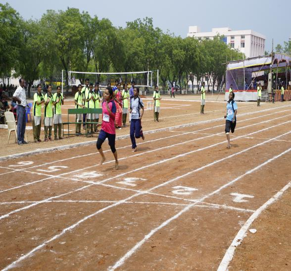 100 M Girls - State Level Intercollegiate Sports Meet Sponsored by The Tamil Nadu Dr. MGR Medical University, Chennai, on 08 - 10 Dec 2017