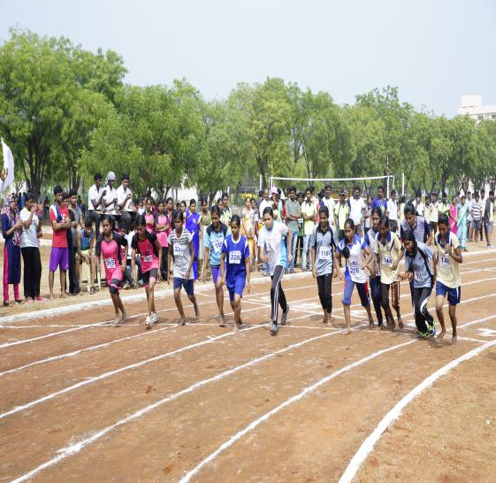 200 M Girls - State Level Intercollegiate Sports Meet Sponsored by The Tamil Nadu Dr. MGR Medical University, Chennai, on 08 - 10 Dec 2017