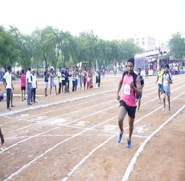400 M Boys - State Level Intercollegiate Sports Meet Sponsored by The Tamil Nadu Dr. MGR Medical University, Chennai, on 08 - 10 Dec 2017