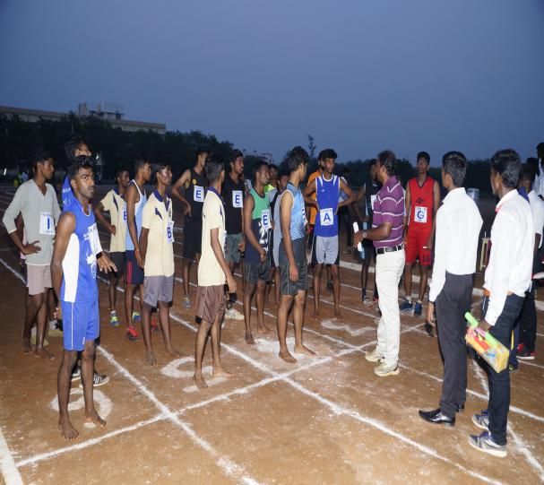 4 x 100 M Relay (Boys) - State Level Intercollegiate Sports Meet Sponsored by The Tamil Nadu Dr. MGR Medical University, Chennai, on 08 - 10 Dec 2017