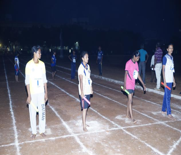 4 x 100 M Relay (Girls) - State Level Intercollegiate Sports Meet Sponsored by The Tamil Nadu Dr. MGR Medical University, Chennai, on 08 - 10 Dec 2017