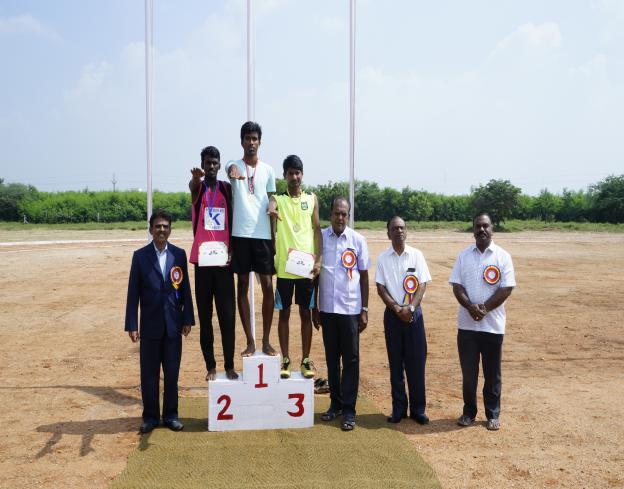 Athletic Winner	 Boys - State Level Intercollegiate Sports Meet Sponsored by The Tamil Nadu Dr. MGR Medical University, Chennai, on 08 - 10 Dec 2017
