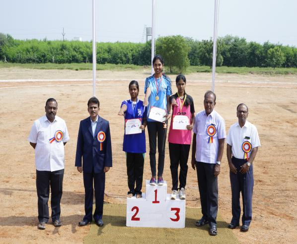 Athletic Winner	 Girls - State Level Intercollegiate Sports Meet Sponsored by The Tamil Nadu Dr. MGR Medical University, Chennai, on 08 - 10 Dec 2017