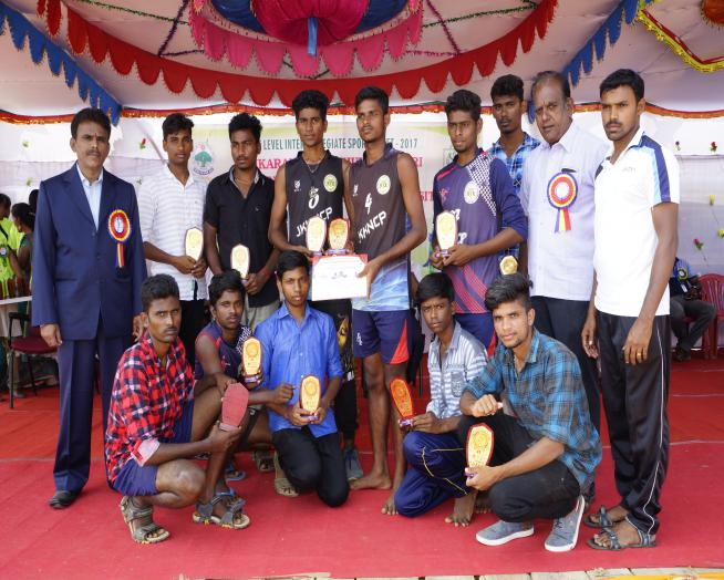 Volley  Ball - Winner - State Level Intercollegiate Sports Meet Sponsored by The Tamil Nadu Dr. MGR Medical University, Chennai, on 08 - 10 Dec 2017