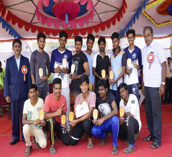 Volley  Ball - Runner - State Level Intercollegiate Sports Meet Sponsored by The Tamil Nadu Dr. MGR Medical University, Chennai, on 08 - 10 Dec 2017