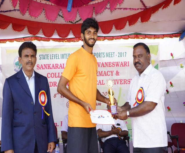 Over All Champion Boys - State Level Intercollegiate Sports Meet Sponsored by The Tamil Nadu Dr. MGR Medical University, Chennai, on 08 - 10 Dec 2017