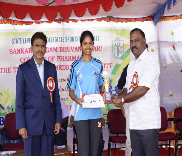 Over All Champion Girls - State Level Intercollegiate Sports Meet Sponsored by The Tamil Nadu Dr. MGR Medical University, Chennai, on 08 - 10 Dec 2017