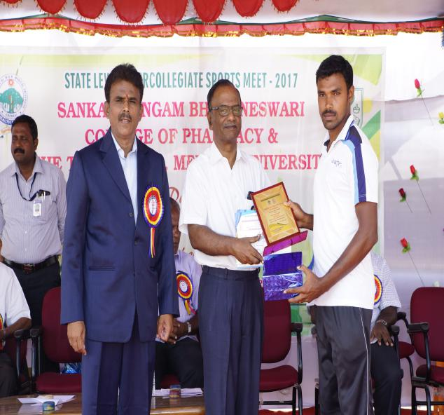 Valedictory Function - State Level Intercollegiate Sports Meet Sponsored by The Tamil Nadu Dr. MGR Medical University, Chennai, on 08 - 10 Dec 2017